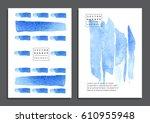 set of trendy handmade banners...   Shutterstock .eps vector #610955948