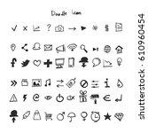 doodle icon set | Shutterstock .eps vector #610960454