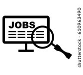 job vacancy. icon. recruitment. ... | Shutterstock .eps vector #610963490