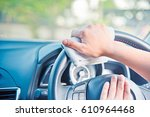 hand cleaning the car interior... | Shutterstock . vector #610964468
