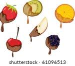 illustration of a fruit slices... | Shutterstock . vector #61096513
