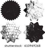 .grunge post stamps.vector... | Shutterstock .eps vector #610969268