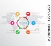 vector infographic templates... | Shutterstock .eps vector #610971878
