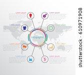 vector infographic templates...   Shutterstock .eps vector #610971908
