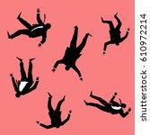 falling people | Shutterstock .eps vector #610972214