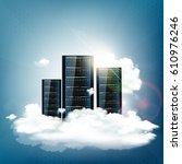 cloud computing. server for... | Shutterstock .eps vector #610976246