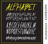 graphic font for your design.... | Shutterstock .eps vector #610981094