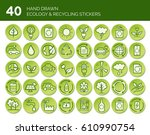 hand drawn ecology and... | Shutterstock .eps vector #610990754