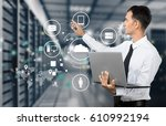 technology. | Shutterstock . vector #610992194