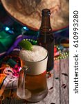 fiesta  mexican beer with a... | Shutterstock . vector #610993280