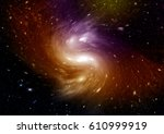 stars  dust and gas nebula in a ... | Shutterstock . vector #610999919