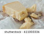 parmesan cheese. delicious... | Shutterstock . vector #611003336