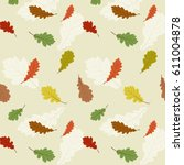 vector seamless pattern with... | Shutterstock .eps vector #611004878