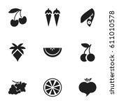 set of 9 editable dessert icons.... | Shutterstock .eps vector #611010578