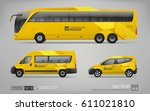 hi detailed transport mockup of ... | Shutterstock .eps vector #611021810