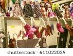 rag doll handmade in the... | Shutterstock . vector #611022029