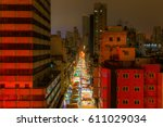 famous night market at temple... | Shutterstock . vector #611029034