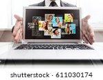 computer  tv | Shutterstock . vector #611030174