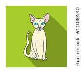peterbald icon in flat style... | Shutterstock . vector #611030540
