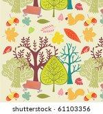 autumn forest background | Shutterstock .eps vector #61103356