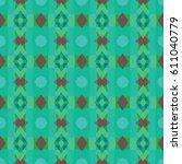 boho chic fashion texture.... | Shutterstock .eps vector #611040779