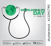 world health day campaign logo... | Shutterstock .eps vector #611041790