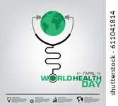world health day campaign logo... | Shutterstock .eps vector #611041814