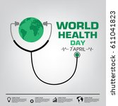 world health day campaign logo...   Shutterstock .eps vector #611041823