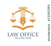 law firm logo with text space... | Shutterstock .eps vector #611042393