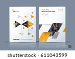 business vector template.... | Shutterstock .eps vector #611043599