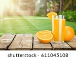 orange juice. | Shutterstock . vector #611045108