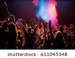 crowd at concert   summer music ... | Shutterstock . vector #611045348