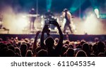 crowd at concert   summer music ... | Shutterstock . vector #611045354
