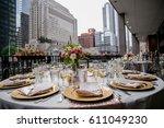 classy wedding setting.table...   Shutterstock . vector #611049230