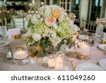 classy wedding setting.table... | Shutterstock . vector #611049260