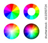 set of color wheel 12 color rgb ... | Shutterstock .eps vector #611050724