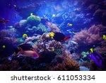 underwater life landscape | Shutterstock . vector #611053334