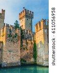 castle scaliger in the italian... | Shutterstock . vector #611056958