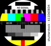 tv test card with rainbow... | Shutterstock .eps vector #611060834