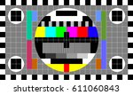 tv test card with rainbow... | Shutterstock .eps vector #611060843