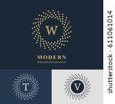 modern logo design. geometric... | Shutterstock .eps vector #611061014