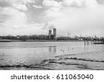 power plant energy silos....   Shutterstock . vector #611065040