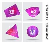 big sale banner. cristal.... | Shutterstock .eps vector #611065076