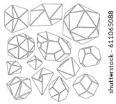freehand drawing geometry group ... | Shutterstock .eps vector #611065088