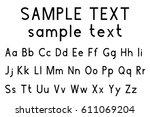 alphabet font. upper and lower... | Shutterstock .eps vector #611069204