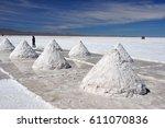 bolivia   salar de uyuni   the...   Shutterstock . vector #611070836