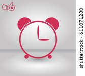 alarm icon vector. clock flat...
