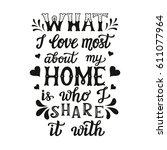 hand lettering typography... | Shutterstock . vector #611077964