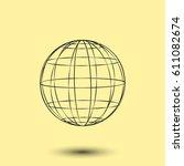 globe vector icon   Shutterstock .eps vector #611082674