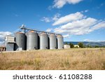 Wheat silo's - stock photo